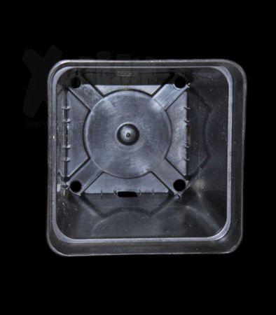 TEKU Topf, viereckig, stabil, 0,69 L, 10 x 10 x 11 cm