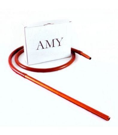 AMY Deluxe Silikonschlauch + Aluminium-Mundstück Set Amber/braun
