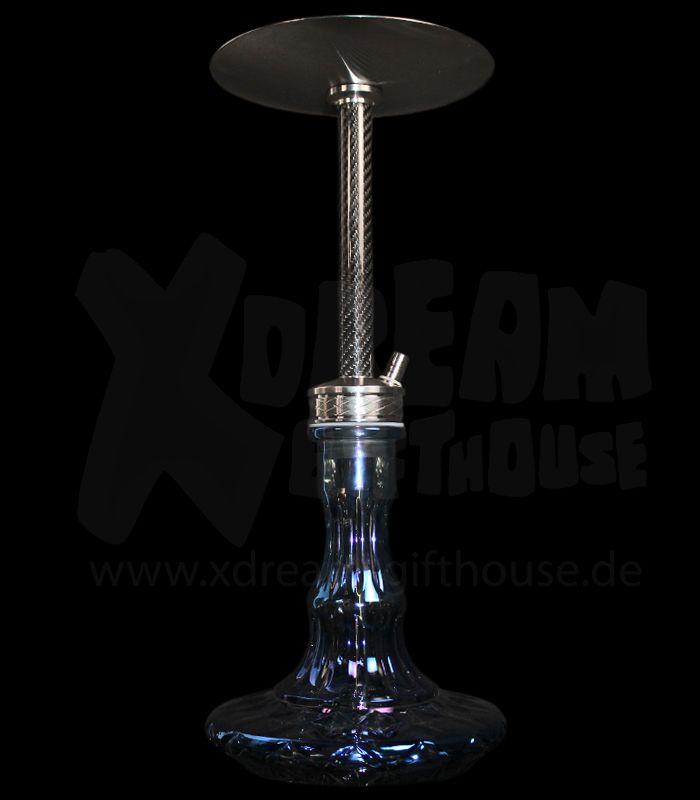 WD Hookah | LS2-2 Edelstahlshisha | blau carbon