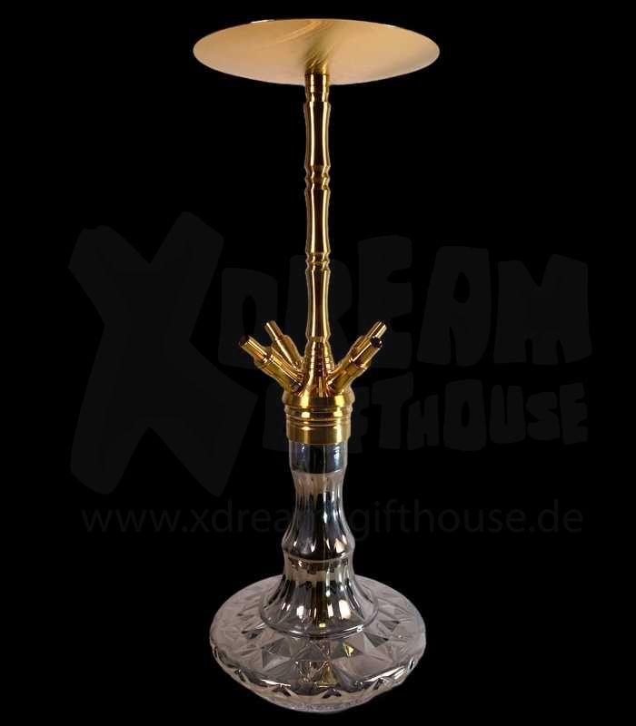 WD Hookah | X41G-24 Edelstahlshisha | Gold-Chrome