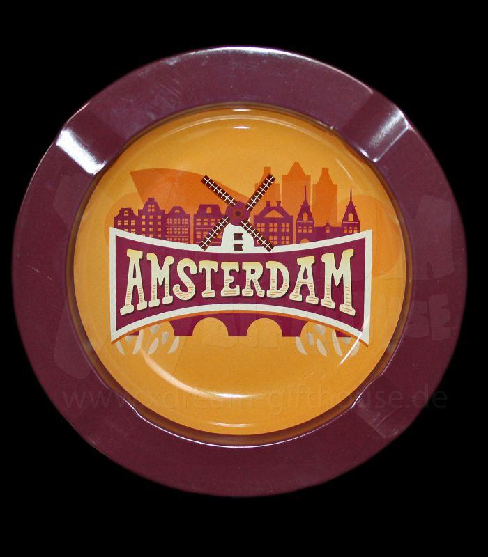 Metall-Aschenbecher   Amsterdam