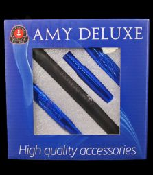 Amy Deluxe | Silikonschlauch & Alumundstück Set | Blau