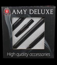 Amy Deluxe | Silikonschlauch & Alumundstück Set | schwarz