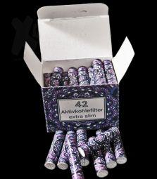 Original 420z | VIOLETT Extra Slim Aktivkohlefilter | ø 6mm