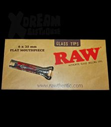 RAW Slim Glass Tips | FLAT