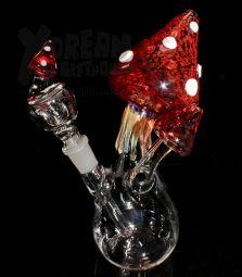 Mushroom Bubbler BIG   Red   Einzelstück