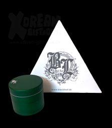 Black Leaf | Aluminium Grinder | Matt Grün| 4-tlg.