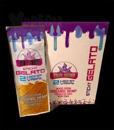 True Hemp | Organic Wraps Sticky Gelato | 2 Blunt Wraps