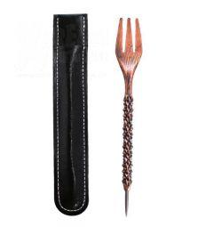 Gabel mit Folien-Stecher Bronze