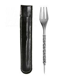 Gabel mit Folien-Stecher Silber
