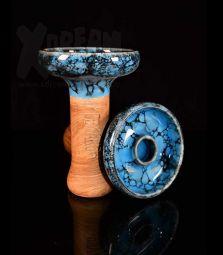 Oblako Phunnel L | Glazed blau-schwarz | 12 cm