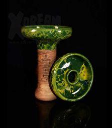 Oblako Phunnel L | Glazed grün-gelb | 12 cm