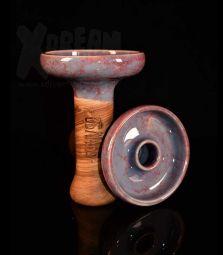 Oblako Phunnel L | Glazed grau-rot | 12 cm