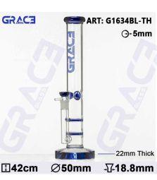 Grace Glass   HAMMER Series   Blue Parallel tubes   44cm   18,8er