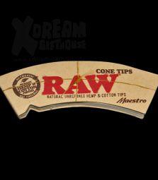RAW Cone Maestro | konische ungebleichte Filtertips | breit