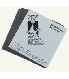Snow Seals Black | 95 x 95 mm | 30 St.