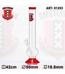 Amsterdam | Bouncer Glass Bong | H:42cm - Ø:50mm- SG:18.8mm