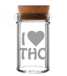 I love THC | Glas mit Kork | 135 ml