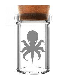 Octopus | Glas mit Kork | 135 ml