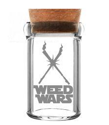 Weed Wars | Glas mit Kork | 135 ml