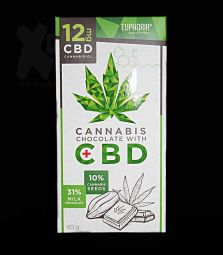 Euphoria | Cannabis Chocolate mit CBD | 12 mg