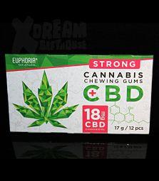 Euphoria | Cannabis Chewing Gum with CBD | 18 mg