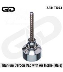 Grace Glass | Titanium Carb cap mit Luftloch (male)