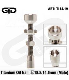 Grace Glass | Titanium Oil Nail | Schliff: 18.8mm/14.5mm (male)