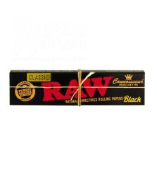 RAW Classic | BLACK KS Slim Connoisseur Papier + Filtertips