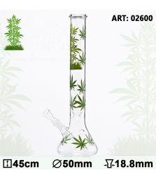 Leaf | Leaf Jhari Beaker Glass Bong | H: 45cm