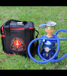 AMY Deluxe | Alu Sphere Bag | Blau