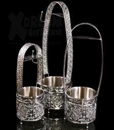 AMY Deluxe | Kohlebehälter | Silber