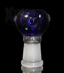 Glaskopf | Blau mit Rollstop | 14.4 Female Schliff