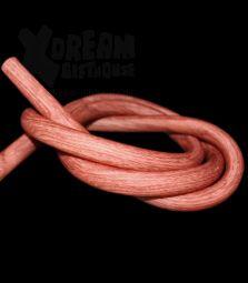Silikonschlauch | Holzoptik - rot braun | 100 cm
