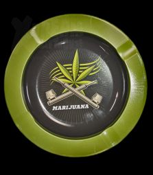 Metall-Aschenbecher   Marijuana
