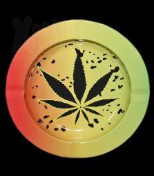 Metall-Aschenbecher   Cannabis