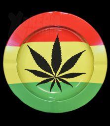 Metall-Aschenbecher | Cannabis