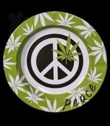 Metall-Aschenbecher   Peace