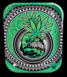 Metall-Drehtablett   Grass Art   34x28x2,5cm