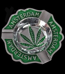Metall-Aschenbecher   Amsterdam Leaf Embossed